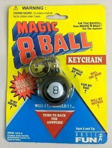 New! MAGIC 8 BALL KEYCHAIN 1994 VTG 90's REALLY WORKS! Basic Fun Mini Toy TYCO
