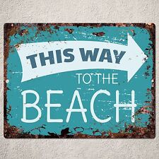PP0042 Vintage Rustic Sign Plate Welcome Beach Bar Pub Cafe Tropical Decor Gift