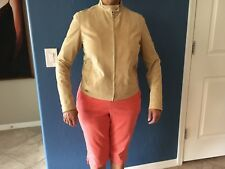 Ralph Lauren Golf Suede leather Jacket, Vintage.slightly used Beige Women Size 6