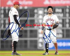 Carlos Correa Jose Altuve 8x10 autographed photo RP
