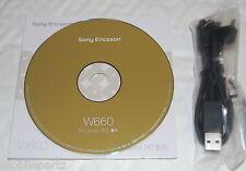 Genuine Original Sony Ericsson W660i Phone CD Software PC Suite & USB Data Cable