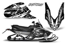 Yamaha APEX XTX Decal Wrap Graphic Kit Sled Snowmobile 2006-2011 NIGHTWOLF WHITE