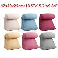 Back Wedge Cushion Adjustable Bed Sofa Office Neck Waist Lumbar Soft Pillow  A+