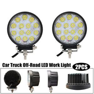 2PCS 42W Car Truck Off-Road LED Work Light Fog Lamp Tractor Flood Lights General