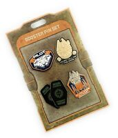 Disney Parks Star Wars Galaxy's Edge Millennium Falcon Booster 4 Pc Pin Set NEW