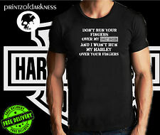 MENS BLACK T Shirt  Dont Run Your Fingers Over My HARLEY DAVIDSON S up to 2XL