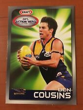 BEN COUSINS 2007 KRAFT AFL ACTION HERO COLLECTOR CARDS - WEST COAST EAGLES