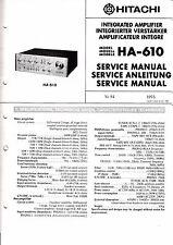 MANUEL DE REPARATION POUR Hitachi ha-610