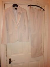 H&M Beige Womens Business Wedding Formal Suit Trousers 8 10 36 Jacket 12 40 NEW