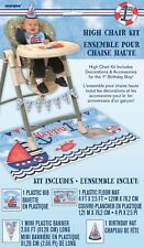Boy 1st Birthday High Chair Kit Nautical Floor Party Hat Flags First Decoration