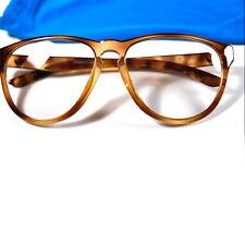 New ADIDAS ORIGINALS Clear Sunglasses Round Eyeglass Brown Gold Trefoil Specs