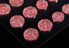CraftbuddyUS CB70PK 50 Self Adhesive Pink Crystal Rhinestone Moon Rock Gem Craft