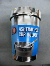 Auto Aschenbecher für Getränkehalter chrom blau Ascher PKW LKW verchromter