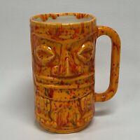 Tiki Mug Studio Art Orange Red Multi-color