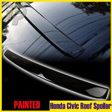 In Stock LA! For Honda 8th Civic 4DR Painted #NH731P Black Roof  Visor Spoiler