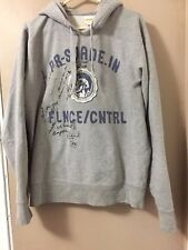 "Men's Diesel ""Only The Brave"" Gray Hoodie Size XL"