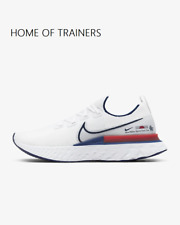 Nike React Infinity Run Flyknit White Track Red Blue Men's Trainers All Sizes