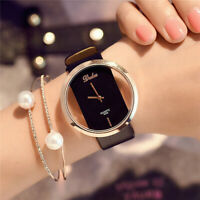 Vogue Women 's Leather Band Analog Quartz Diamond Wrist Watch Watches Hot UK
