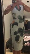 Bnwt Ted Baker Ladies Women's Midi Dress Distinguishing Rose Print size 1 Uk 8