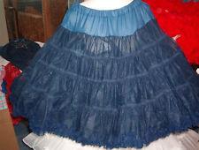 Square Dance Sam'S Navy Blue Nylon # 740 Petticoat Sz. Med