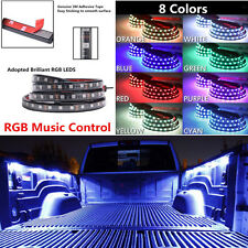 "2x 60"" RGB LED Music Control Car Truck Pickup Bed Light Tailgate Strip Neon Lamp"