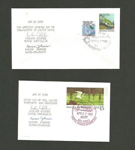 MARSHALL ISLANDS - JALUIT - OFFICE OPENING COVER + FIRST DAY USE OF CANCELLATION