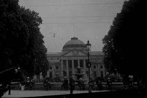 9x12 Glas Negativ Kuhrhaus Wiesbaden Aquis Mattiacis um 1915