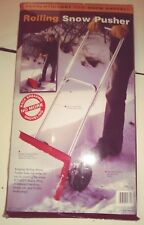 New in Box Revolutionary Rolling Snow Pusher with Rubber Wheels