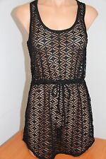 NWT Miken Swim Swimsuit Cover Up Dress Tunic Size S Black Cavier