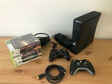 Xbox 360 S 250GB Black Console With 2 Controllers & 10 Games - Fast Dispatch