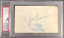Jim Brown Signed Index Card NFL Football Autograph Cleveland Browns HOF PSA/DNA