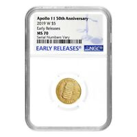 2019 W Apollo 11 50th Anniversary $5 Gold Comm. NGC MS 70 ER