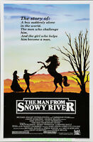 MAN FROM SNOWY RIVER MOVIE POSTER Folded 27x41 Now Linenbacked KIRK DOUGLAS