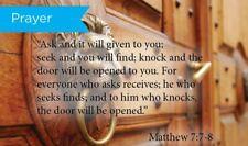 Pass Along Scripture Cards, Prayer, Matt 7:78, Pack 25