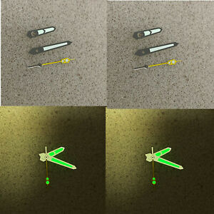 Watch Hands Pointers Green Luminous Needles For NH35/NH36 Watch Movement
