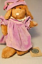 "Boyds Collection: J.B. Bean - Rabbit Purple Dress/Hat - Hinged Joints 12"" Plush"