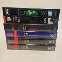 Lot of 6 T-120 VHS Tapes Blanks GE CVS SKC RCA