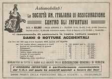 Z0756 Assicurazioni Generali di Venezia - Pubblicità del 1925 - Advertising