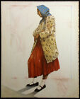 """Ed Singer """"Navajo Woman In Imitation Leopard"""" Hand Signed Lithograph Make Offer!"""