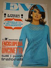 EVA=1966=PATRICIA NEAL=LISA GASTONI=28 MARZO=RIVISTA MODA CUCITO FEMMINILE=