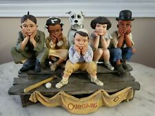 Franklin Mint Our Gang Little Rascals Baseball Group Figurine Statue - Rare