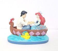 Disney Traditions Jim Shore Little Mermaid Ariel & Eric Boat Figurine Flounder