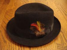 STETSON THE SOVEREIGN black felt hat size 58   7.25   7 1 4 e71f9a2bd174