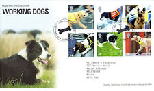 5 FEBRUARY 2008 WORKING DOGS ROYAL MAIL FIRST DAY COVER HOUND GREEN SHS