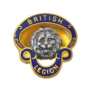 Vintage Old British Legion Enamel Members Lapel Badge