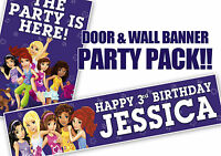 PERSONALISED LEGO FRIENDS BIRTHDAY BANNER