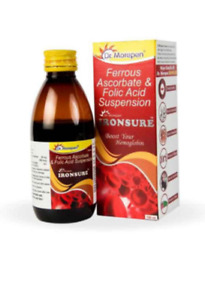 Dr. Morepen Ironsure Syrup For Boost Immunity & Muscle Health 150gm Each