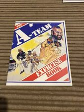 Vintage 1983 The A-team Exercise Book Mr T Hannibal Murdock Etc