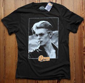David Bowie Smoking T Shirt Official Photo Heroes World Tour 1976 Ziggy Stardust