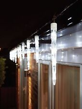 72LED COOL WHITE 24 LARGE SCULPTURED ICICLE XMAS LIGHTS WITH 8 FUNCTION & MEMORY
